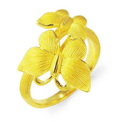 純金 24K 指輪 蝶 バタフライ リング レディース 女性 イエローゴールド プレゼント 誕生日 贈物 24金 ジュエリー アクセサリー ブランド プリマゴールド PRIMAゴールド K24 送料無料