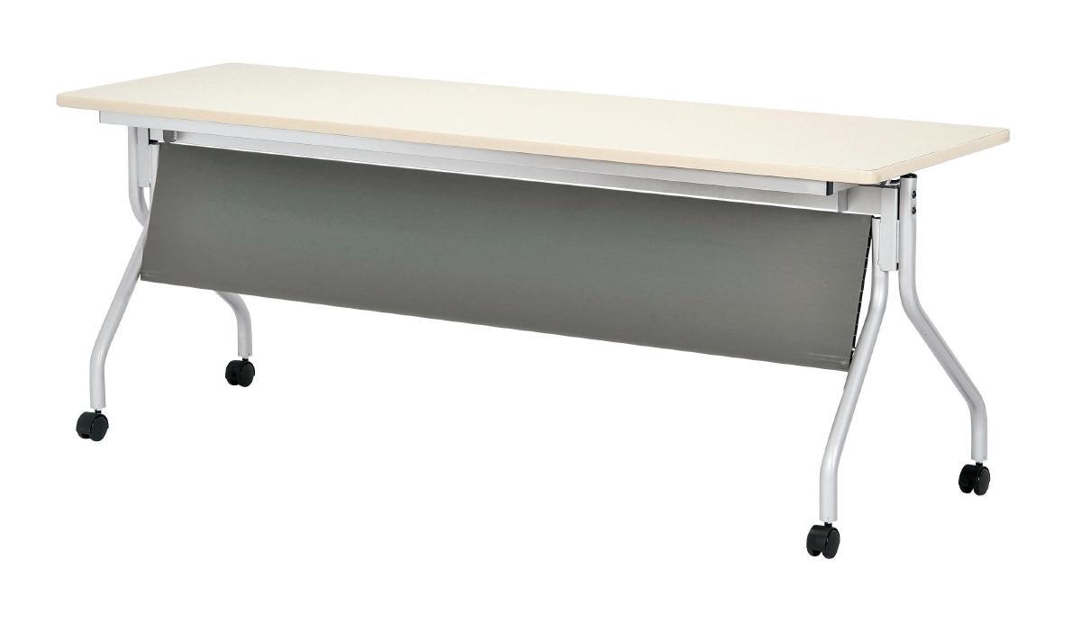 ミーティングテーブルのことならおまかせオフィス 弘益 跳ね上げ式会議テーブル 幕板付き 幅1800 奥行600 700 アイボリー 会議 国内即発送 オフィス 会議室 テーブル 高品質 家具 AHM-JM1860 備品 ミーティング