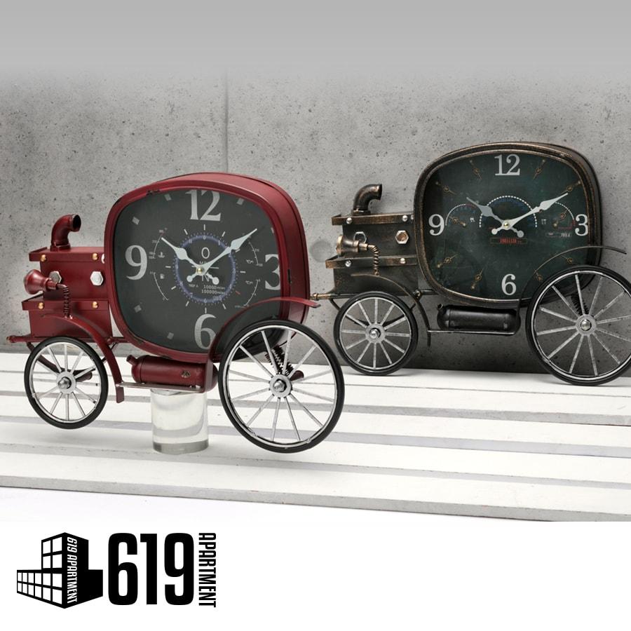 おしゃれ 時計 ヴィンテージカー オブジェ アンティーク レトロ ブリキ ヴィンテージ 壁掛け 時計 壁掛け時計 サイド 新生活 プレゼント ギフト 誕生日 新築祝い