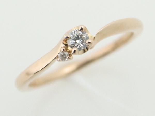 【中古】 canal4℃ カナルヨンドシー ダイヤモンドリング K18PG(18金 ピンクゴールド)指輪 質屋出品 USED 【コンビニ受取対応商品】
