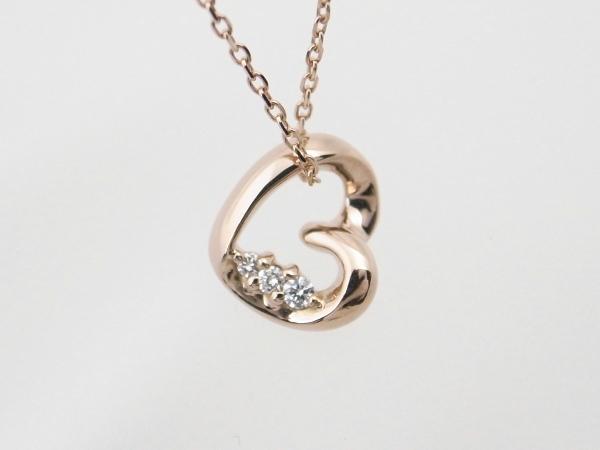 【中古】 ヨンドシー ダイヤモンド ネックレス ペンダント K18PG(18金 ピンクゴールド) 質屋出品 【コンビニ受取対応商品】