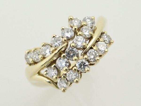 【中古】 ホセヘス ダイヤモンドリング 12.5号 K18(18金 イエローゴールド) 質屋出品 【コンビニ受取対応商品】
