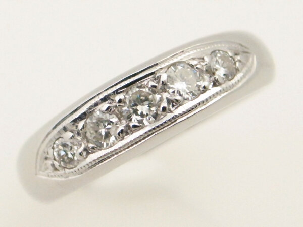 【中古】 ミキモト ダイヤモンドリング Pt950(プラチナ 白金)指輪 11号 質屋出品 【コンビニ受取対応商品】