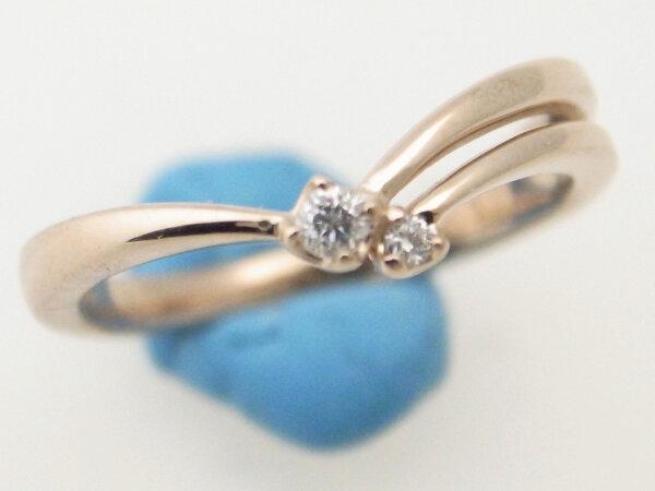 【中古】 ヴァンドーム青山 ダイヤモンドリング K18YG(18金 イエローゴールド) 5号 指輪 質屋出品 【コンビニ受取対応商品】