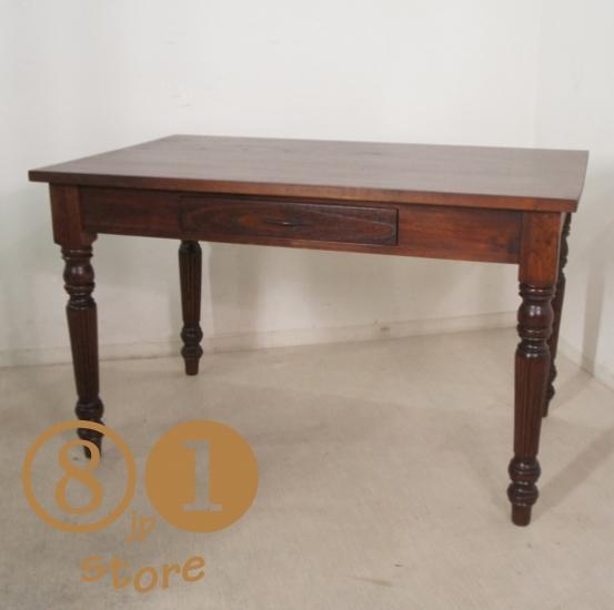 世界的に有名な 【送料無料】アンティーク調 木製 ミンディ無垢 引き出し2杯 木製 ウォールナット ダイニングテーブル W120cm W120cm ウォールナット, 酒楽SHOP:67d57047 --- coursedive.com