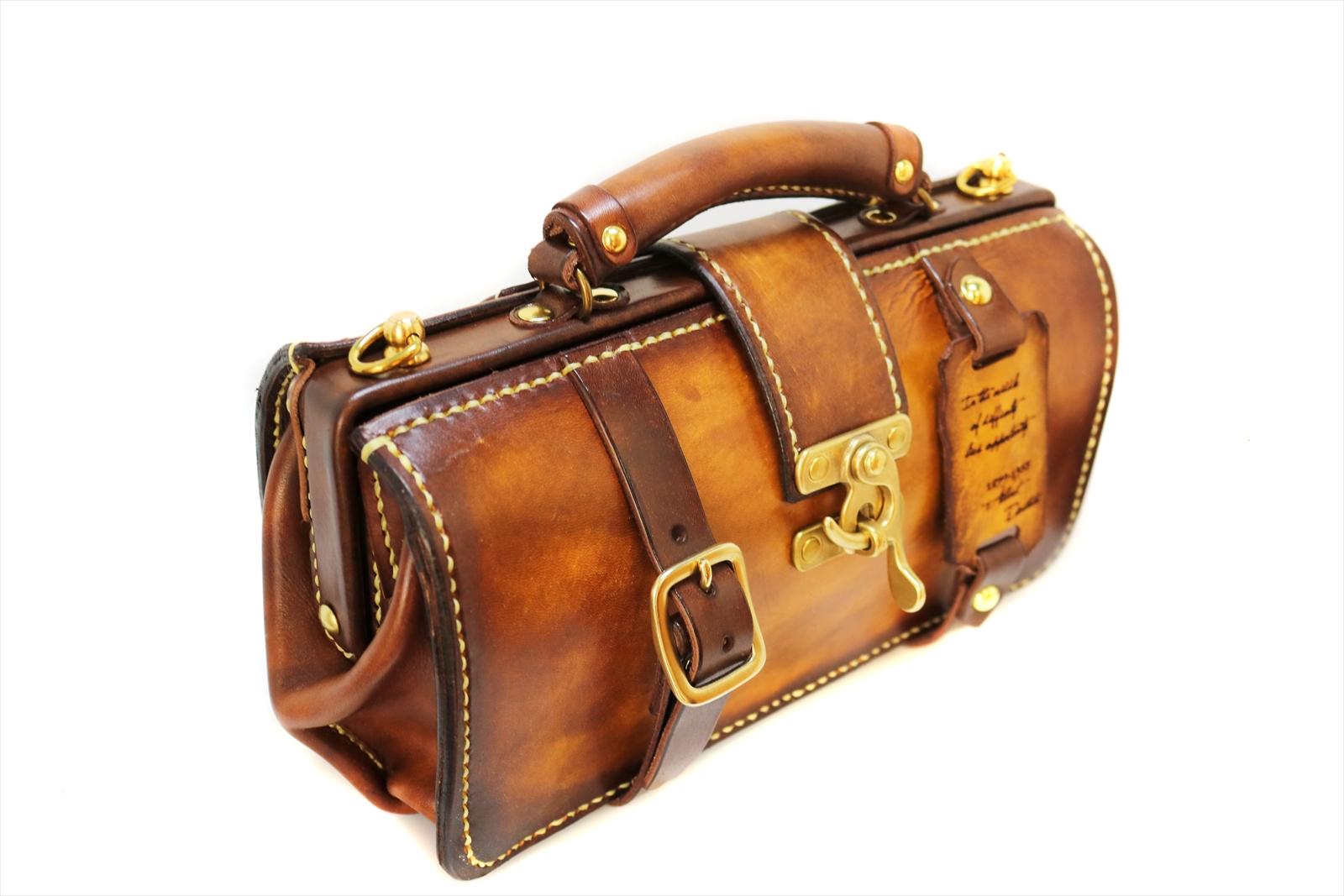 本革 ミニダレスバッグ がま口バッグ カバン 鞄 レディース 婦人バッグ セレブ 一点物