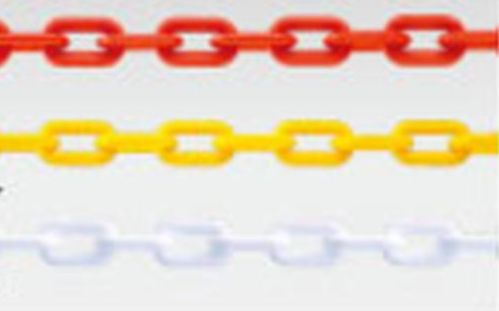 カラーチェーン 樹脂製 イエロー 1本 安全 ガイド 倉庫 誘導 パチンコ備品 チェーン ポール 規制 格安店 送料無料