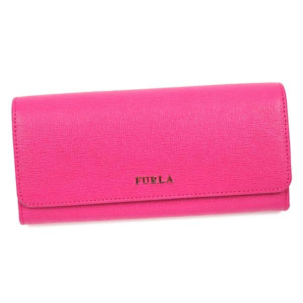 FURLA PN84-771931フルラ ホック長財布レザーピンク×ゴールド