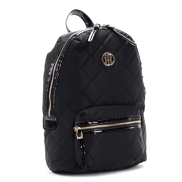TOMMY HILFIGER 6930727-990BACKPACK BLACKトミーヒルフィガー バックパックユニセックス PVCレザーブラック