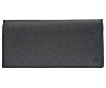 ☆正規品 選択 新品 未使用 送料無料 dunhill ブラック L2K710A ウィンザーファスナー小銭長財布PVC×レザー 1年保証 WINDSORダンヒル