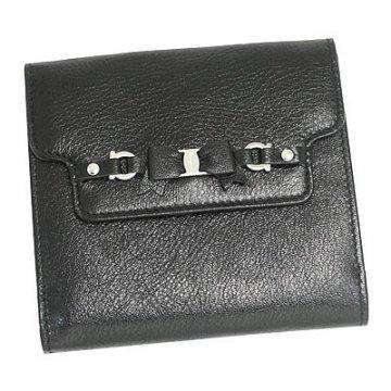 SalvatoreFerragamo 227658-BKサルヴァトーレフェラガモ財布Wホック財布ブラック