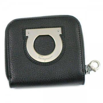 SalvatoreFerragamo 22A981サルヴァトーレフェラガモ財布二折小銭ブラック