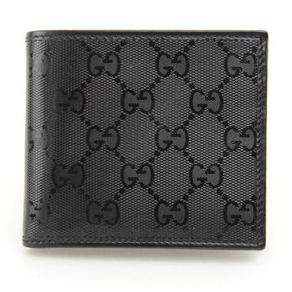 GUCCI 224122-FU49N-1000グッチ 二折小銭財布レザーブラック