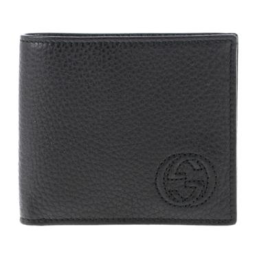 GUCCI 365485-A7M0N-1000グッチ 二折小銭財布レザーブラック