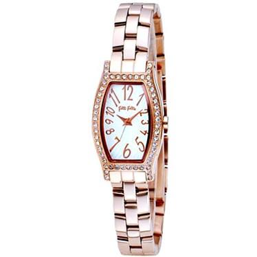 FOLLIFOLLIE  WF8B026BPSフォリフォリ腕時計ピンク・ゴールドステンレスベルト