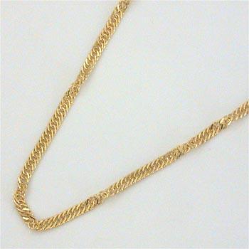 18金ゴールド(K18)スクリューチェーンネックレス(幅約1.7mm 長さ40cm)