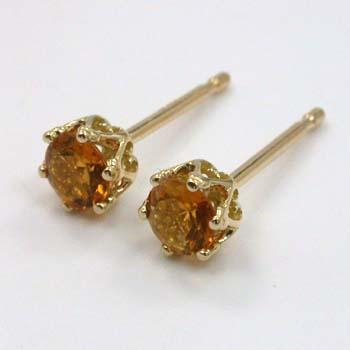 良質  18金ゴールド18金ゴールド シトリンピアス(太さ0.9mmx長さ10mm芯・シリコンキャッチ付), オオタシ:7f9b3d95 --- bober-stom.ru