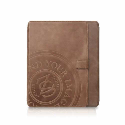 【iPad 9.7インチ 2018 / iPad 9.7インチ 2017 / iPad Air初代 兼用】ZENUS Prestige Vintage Signage Diary(プレステージビンテージウィズサイネージダイアリー)本革 レザーケース ダイアリー 手帳 フリップ