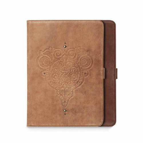 【iPad 9.7インチ 2018 / iPad 9.7インチ 2017 / iPad Air初代 兼用】ZENUS Prestige Retro Vintage Diary(ゼヌス プレステージ レトロビンテージダイアリー)スタンド機能付 本革 レザーケース ダイアリー 手帳 フリップ