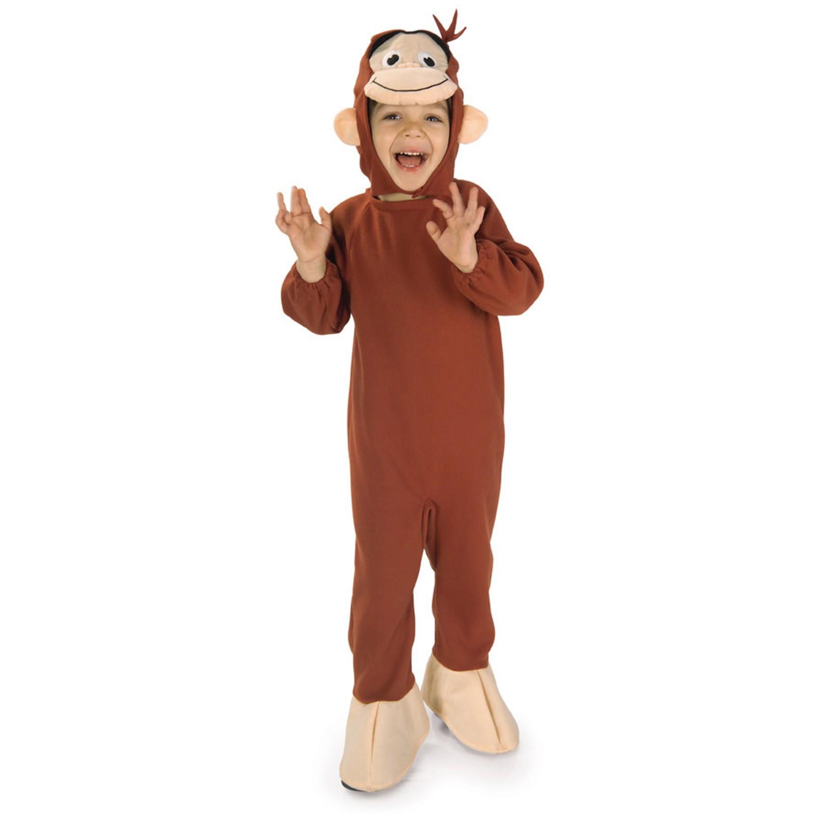 おさるのジョージ コスプレ コスチューム 子供 幼児 男の子 猿 サル きぐるみ 動物 ハロウィン 仮装 アニメキャラクター 申年
