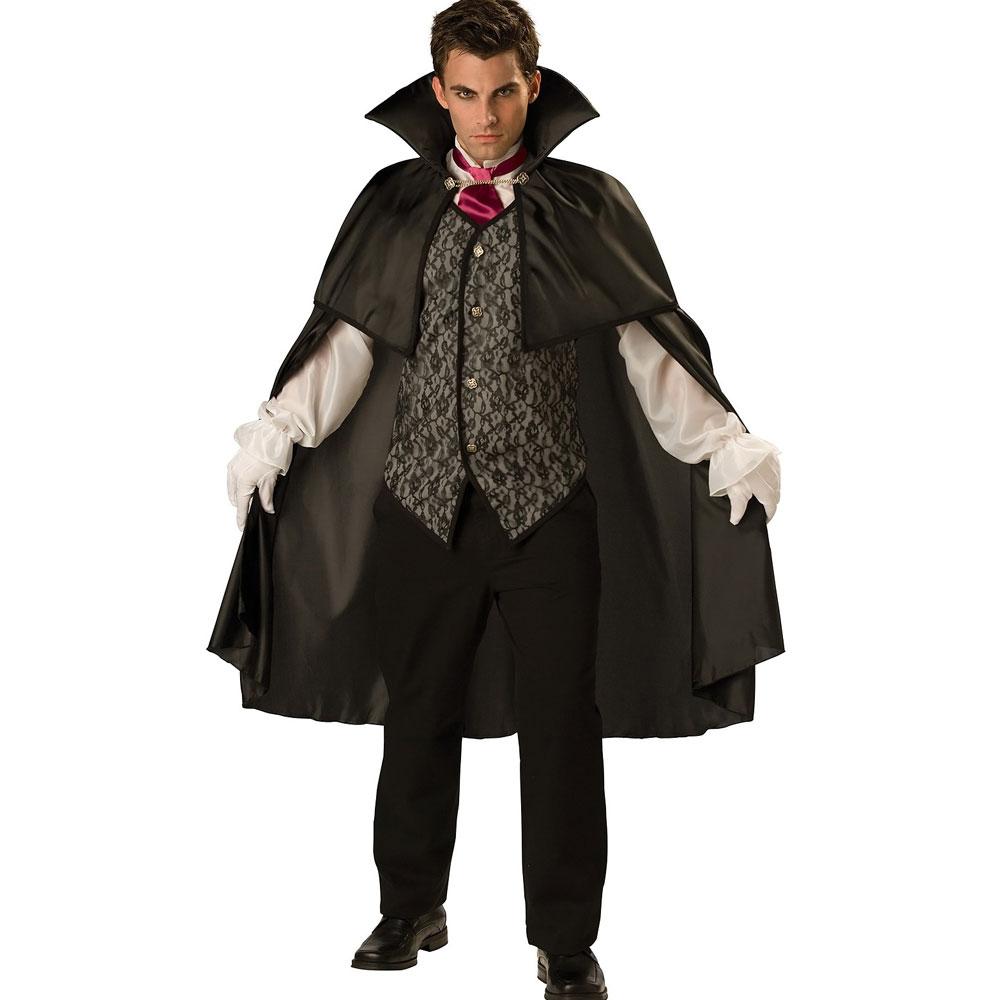 衣装 コスチューム 高級 真夜中の吸血鬼 ドラキュラ バンパイア 大人用 コスチュームハロウィン 衣装・コスチューム