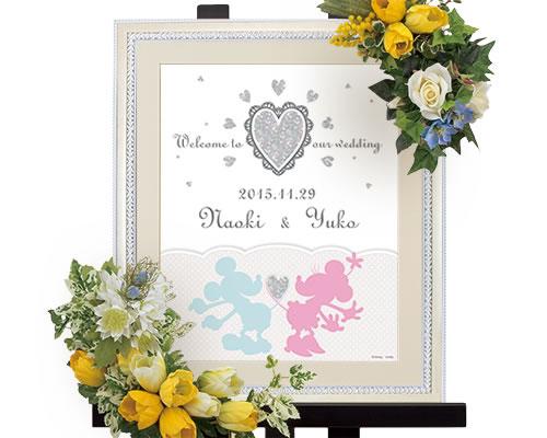 【Disneyzone】ウェルカムボード ブライダル ウェディング ベリンダ ディズニー【ミッキー&ミニー】  ウエディング 結婚式 bridal
