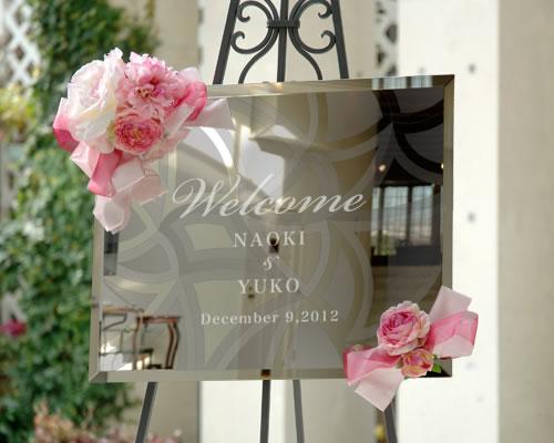 ウェルカムボード ブライダル ウェディング レーヴ ミラータイプ 結婚式 ウエディング bridal