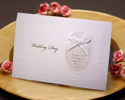 希少 ウエディング 招待状 結婚式 手作りセット シンプルなデザインにリボンがベストマッチの結婚式招待状です フェリスR リボン 手作りキット ブライダル NEW売り切れる前に☆ 10枚セット bridal ウェディング 結婚式招待状