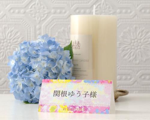 ブライダル用ペーパーアイテム 一面に咲いた花々は優しく甘い色合いでテーブルを華やかに彩りますお花畑が手元に届き 明るい笑みがこぼれます 信憑 THE HANY 結婚式席札 12名分 ラシェル 手作りキット 大注目