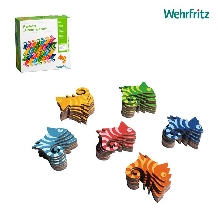 Wehrfritz ベルフリッツ マンダラカメレオン・48 WF036411 おもちゃ かわいい パズル 木製 園用おもちゃ 知育 知育遊び 知育玩具 入園祝い 3歳 4歳 5歳 6歳 ギフト プレゼント 誕生日 保育教材 木製パズル 教育玩具 発達支援