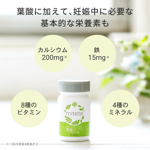 葉酸に加えて、妊娠中に必要な基本的な栄養素も