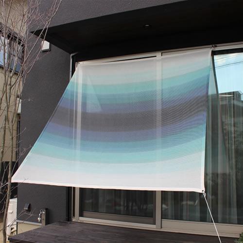 庭やベランダの日よけとしてだけでなく、暮らしそのものを楽しい気持ちにさせるサンシェード。ざっくりとした織り目で、風が通るので見た目にも涼しくなります。 【送料無料】日よけ サンシェード【幅195cmx丈200cm】イチオリシェード グラデーション -ichiori shade gradation-