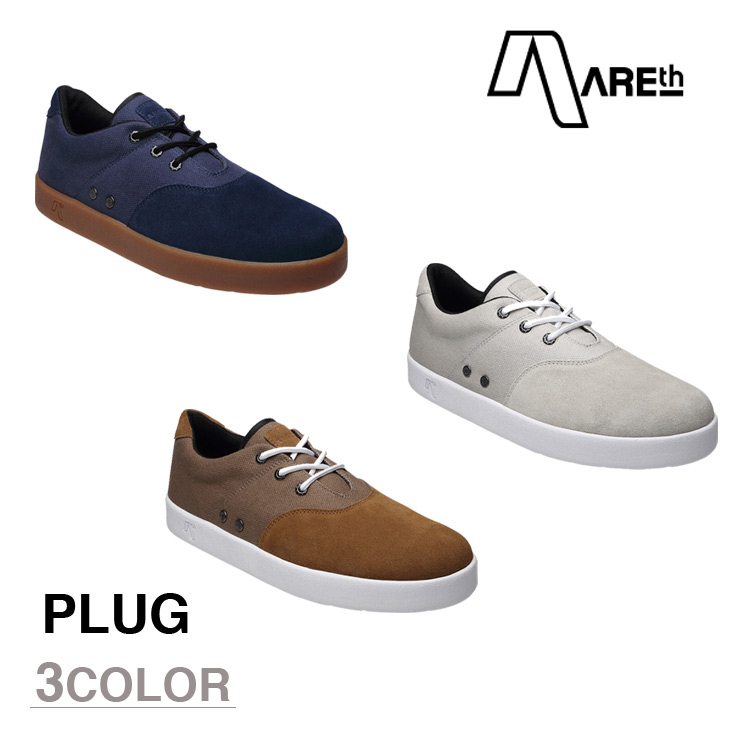 AREth スニーカー 靴 PLUG アース プラグ 2016モデル 各3色 23.5-29.0cm 【正規品】【送料無料】 areth
