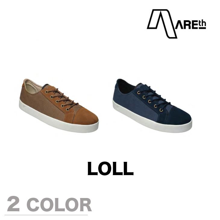 AREth スニーカー 靴 LOLL アース 2017モデル 各2色 23.5-29.0cm 【正規品】【送料無料】 areth
