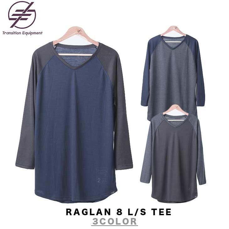 TRANSITION EQUIPMENT トランジション エキップメント RAGLAN 8 L/S TEE ラグラン ロングスリーブ Tシャツ