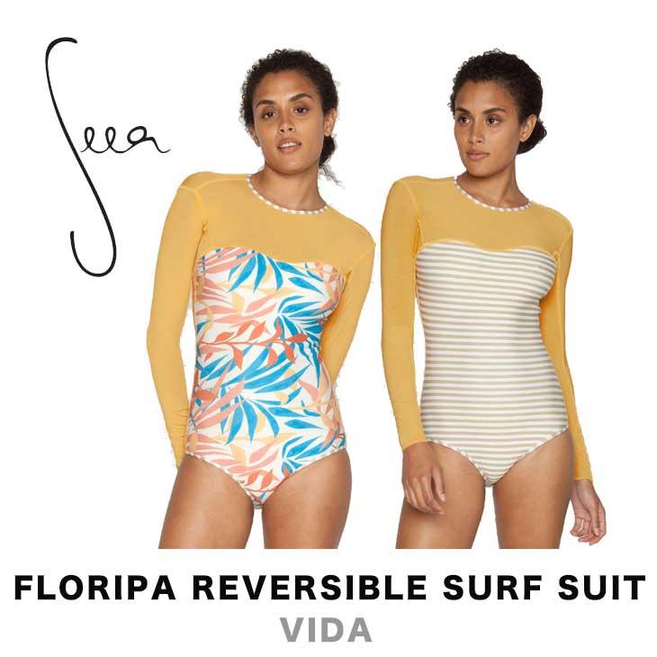 SEEA シーア FLORIPA REVERSIBLE SURF SUIT - VIDA レディース 水着 スイムウェア サーフスーツ