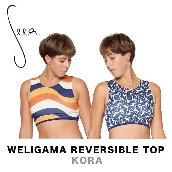 SEEA シーア WELIGAMA REVERSIBLE TOP - KORA レディース 水着 スイムウェア ビキニトップ