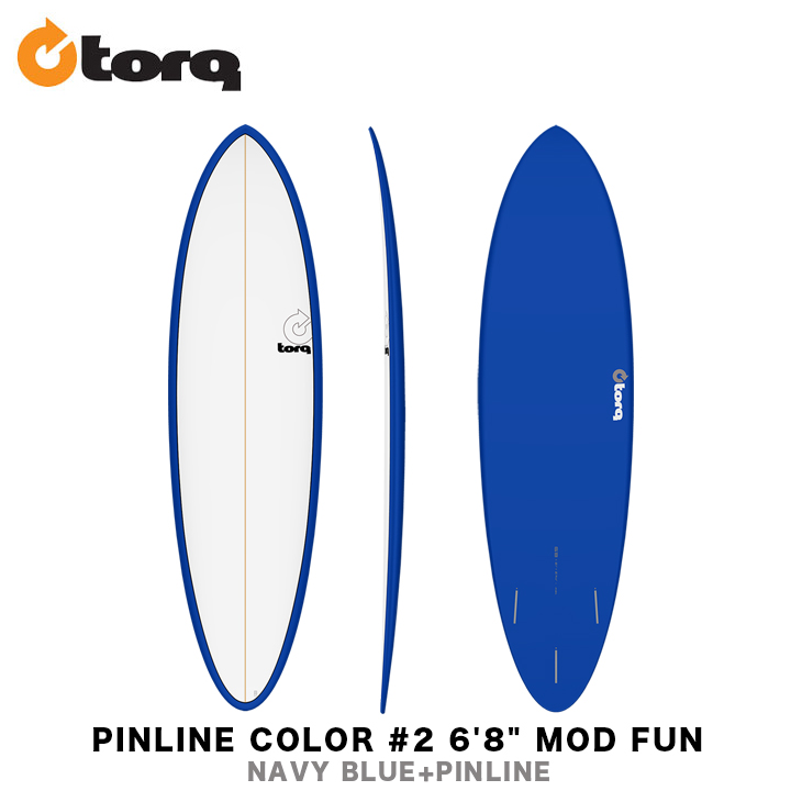 TORQ SURFBOARDS トルク サーフボード PINLINE COLOR #2 6'8
