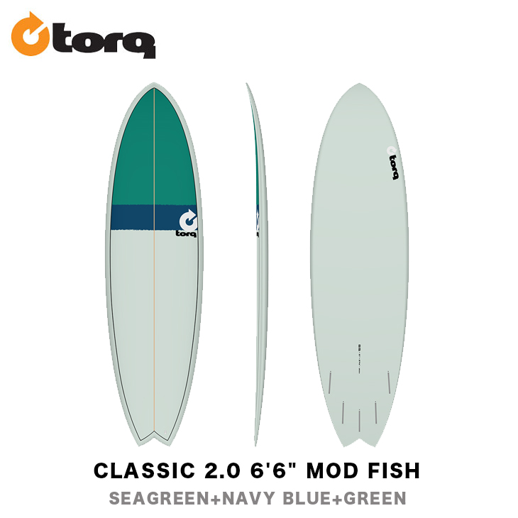 """TORQ SURFBOARDS トルク サーフボード CLASSIC 2.0 6'6"""" MOD FISH フィッシュ ショートボード エポキシボード EPS サーフィン"""