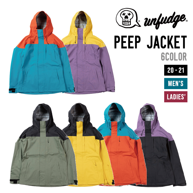 UNFUDGE アンファッジ 20-21 PEEP JACKET ピープ ジャケット 【早期予約】【送料無料 北海道 沖縄は除く】【早期予約特典付き】 スノーボード ウェア