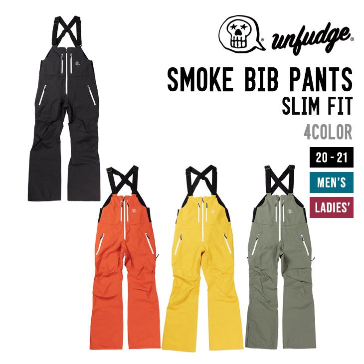 UNFUDGE アンファッジ 20-21 SMOKE BIB PANTS SLIM FIT スモーク ビブ パンツ スリム フィット 【早期予約】【送料無料 北海道 沖縄は除く】【早期予約特典付き】 スノーボード ウェア