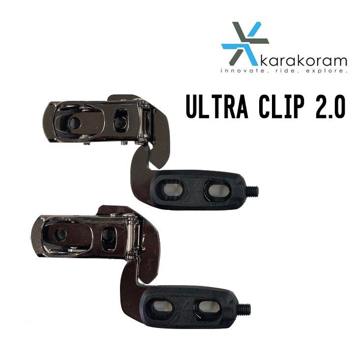 スプリットボード用パーツ バックカントリー パウダー 左右2個SET KARAKORAM カラコラム 21-22 ULTRA CLIP 2.0 ウルトラクリップ スノーボード