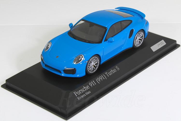 訳あり ミニチャンプス 1/43 ターボ ポルシェ (991) 911 ターボ 911 S (991) 2015 Rivieraブルー 特注モデル 100台限定, 平田市:449e75da --- canoncity.azurewebsites.net
