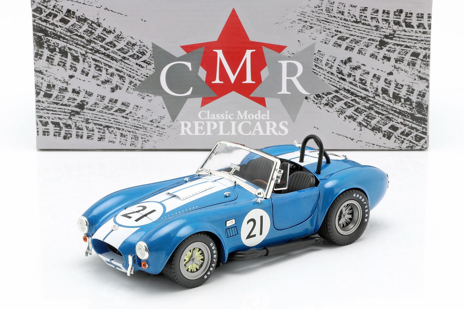 CMR 1/18 シェルビー コブラ 427 レーシング #21 ブルー ホワイト Shelby Cobra 427 Racing #21 blue / white