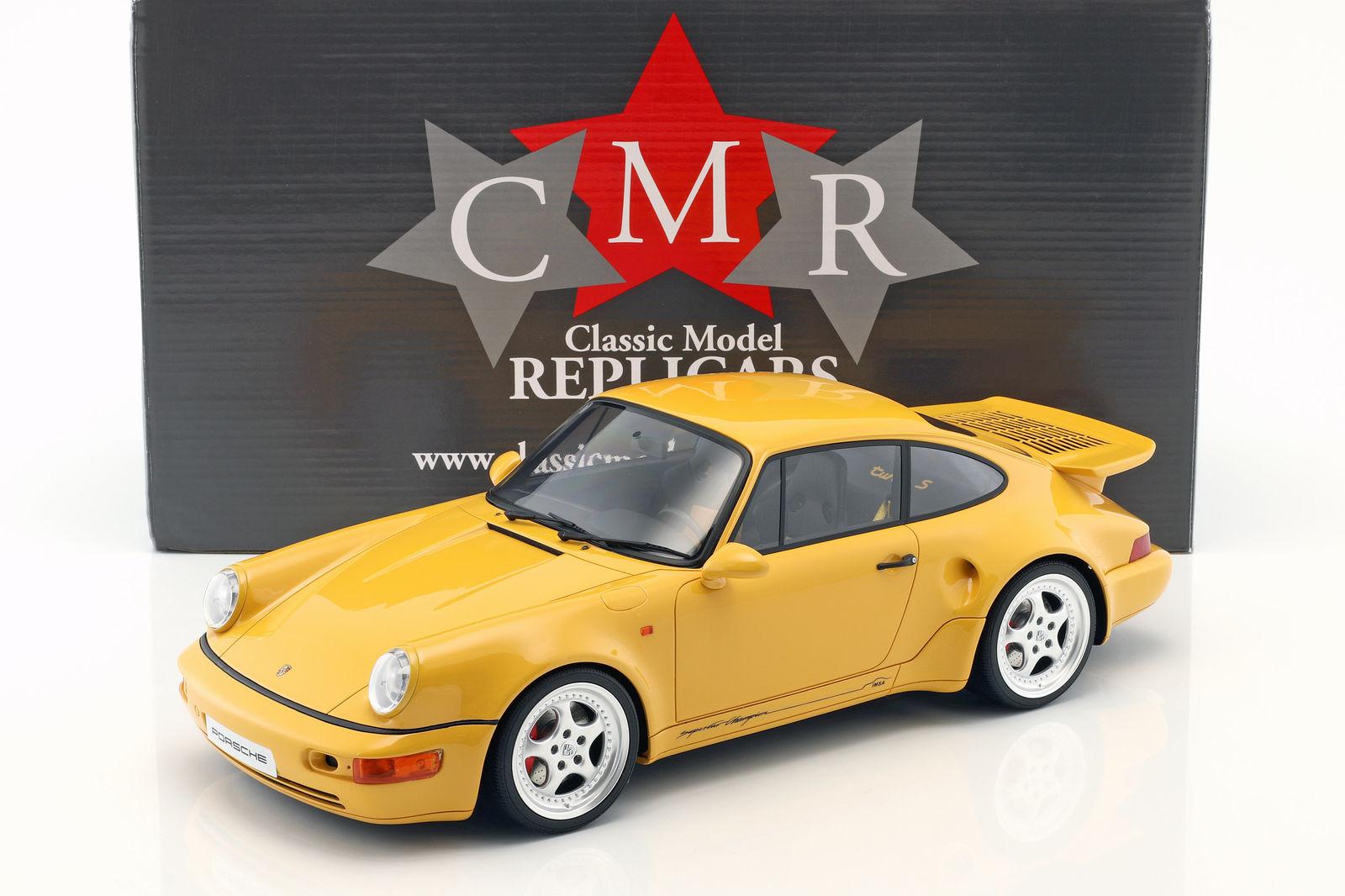 CMR 1/12 ポルシェ 911 (964) ターボS ライトウェイト スピードイエロー Porsche 911 (964) Turbo S lightweight speed yellow