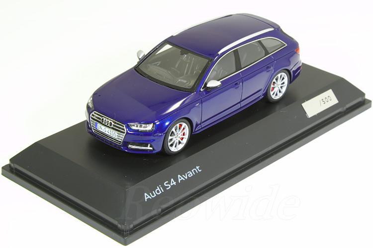 スパーク 1/43 アウディ特注 アウディ S4 Avant B9 ブルー 500台限定