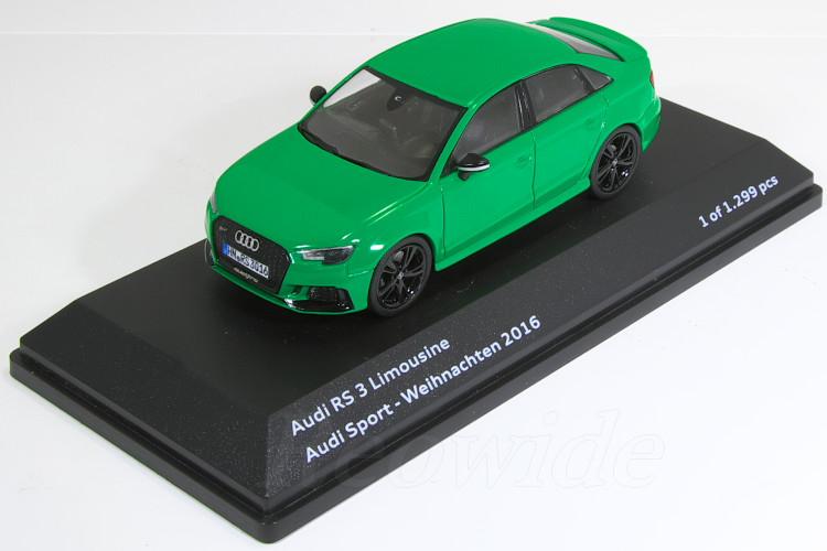 I-Scale 1/43 アウディ特注 アウディ RS3 セダン グリーン 8V--Audi Sport-Weihnachten 2016