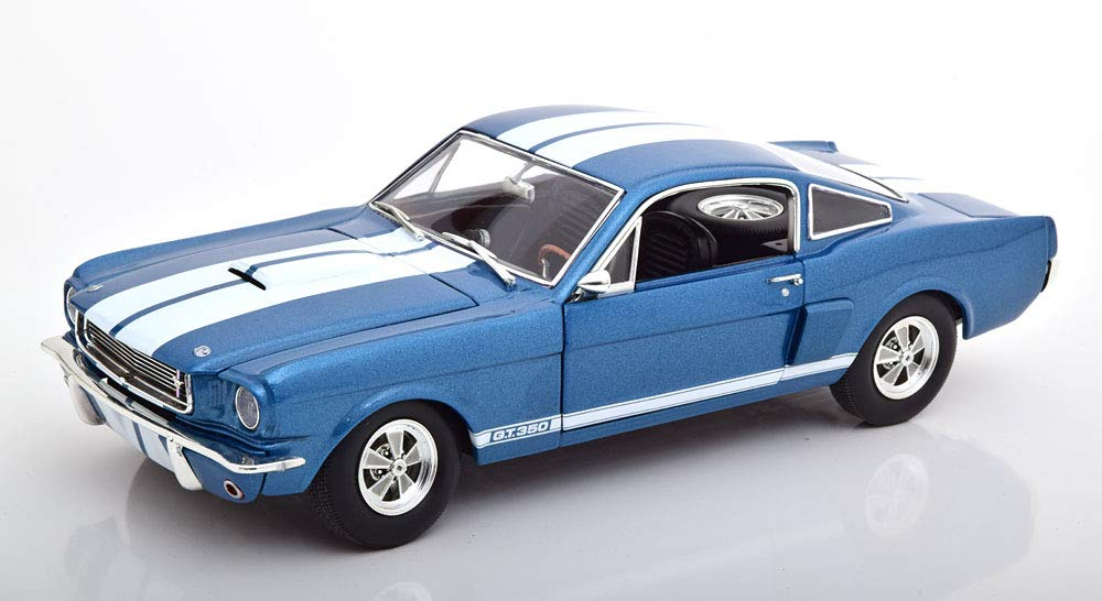 GMP 1/18 フォード シェルビー マスタング GT350 スーパーチャージ 1966 ブルーメタリック ホワイト 開閉 852台限定 Ford Shelby Mustang GT350 Supercharged 1966 blaumetallic/weiß Limited Edition 852 pcs.