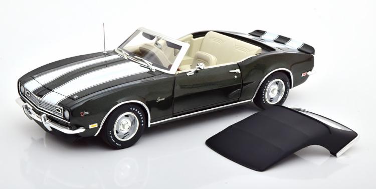 GMP 1/18 シボレー カマロ Z28 コンバーチブル 1968 グリーンメタリック ホワイト 570台限定 Chevrolet Camaro Convertible greenmetallic white