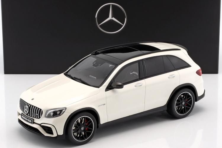 GT スピリット 1/18 メルセデス・ベンツ GLC 63 AMG ホワイト ディーラー特注 Mercedes-Benz AMG GLC63 SUV designo diamond white bright